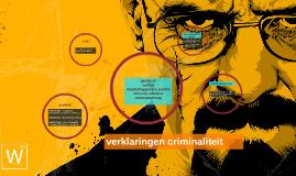 verklaringen criminaliteit