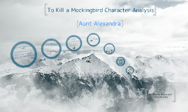 To Kill a Mockingbird (character Analyzation)