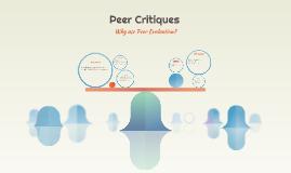 Peer Critiques