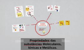 Copy of Propriedades das substâncias Moleculares, Iónicas e Metálica