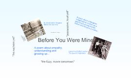 Copy of Before You Were Mine By Carol Ann Duffy