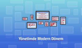 Yönetimde Modern Dönem