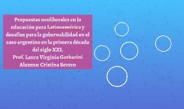 Propuestas neoliberales en la educación para Latinoamérica y