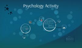 Copy of Psychology Activity