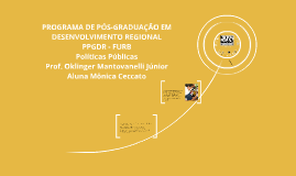 PROGRAMA DE PÓS-GRADUAÇÃO EM DESENVOLVIMENTO REGIONAL PPGDR