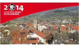 Schluderns Gemeinderatswahl 2014 - Präsentation der SVP Ortsgruppe Schluderns