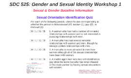 SDC 525: Gender and Sexual Identity Workshop 1