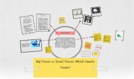 Science fair Project; Big Pieces or Small Pieces: Which Reacts Faster?