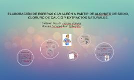 ELABORACIÓN DE ESFERAS CAMALEÓN A PARTIR DE EXTRACTOS NATURA