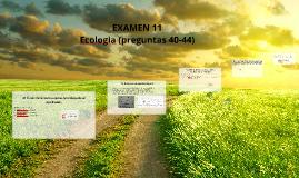 EXAMEN 11 Ecologia