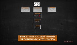 Curso de Inducción - Órdenes de Movilización