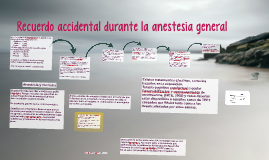 Recuerdo accidental durante la anestesia general