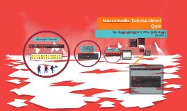 Macromedia Tutorial-W