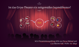 Ist das Grips-Theater ein zeitgemäßes Jugendtheater?