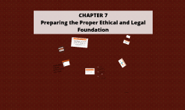 Copy of CHAPTER 7 - Preparing the Proper Ethical and Legal Foundatio