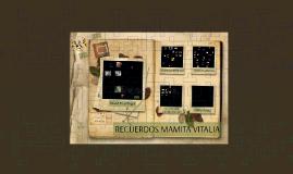 RECUERDOS MAMITA VITALIA
