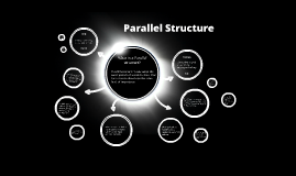 Parallel Structure - Mr. Mirus - Goshen High School