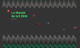CM La Marató de tv3 2016