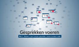 Blok 2 - Gesprekken voeren - 2018-2019