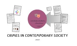 Crimes in Contemporary Society