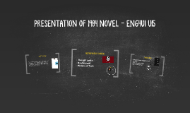 PRESENTATION OF 1989 NOVEL - ENG4U1 U15
