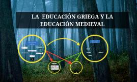 EDUCACIÓN GRIEGA Y MEDIEVAL