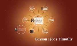 Lesson 130: 1 Timothy