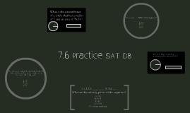 SAT Prep 7.6 DB