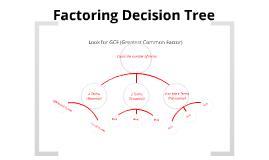 Factoring Decision Tree