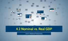4.2 Nominal vs. Real GDP