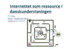 Internettet som ressource i danskundervisningen - Nykøbing Falster