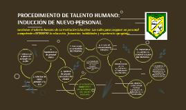 PROCEDIMIENTO DE TALENTO HUMANO: INDUCCIÓN DE NUEVO PERSONAL