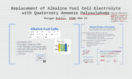Replacement of Alkaline Fuel Cell Electrolyte with Quaternary Ammonium Polysulphone