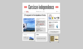 Corsican independence