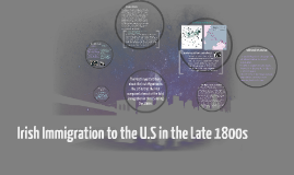 Irish Immigration to the U.S in the late 1800s