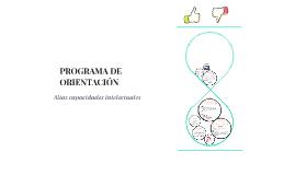 PROGRAMA DE ORIENTACIÓN