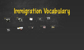 Immigration Vocabulary