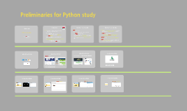 Preliminaries for Python Installation