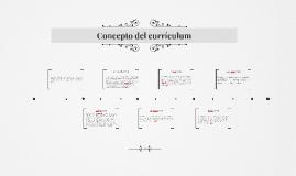 Concepto del currículum