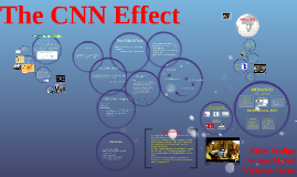 cnn effect A theory that seeks to explain the effect that 24-hour news networks, such as cnn, have on the general political and economic climate.