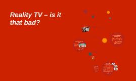 Reality TV / Documentary