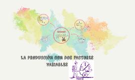 Copy of Copy of LA PRODUCCIÓN CON DOS FACTORES VARIABLES