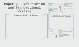 Paper 2 - Non-fiction and Transactional Writing