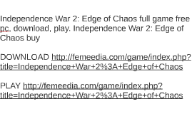 Independence War 2: Edge of Chaos full game free pc, downloa