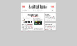 Copy of Backtrack Journal: Pizzagate