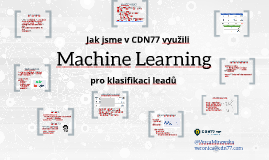 Machine Learning v CDN77