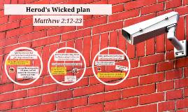 Herod's Wicked Plan