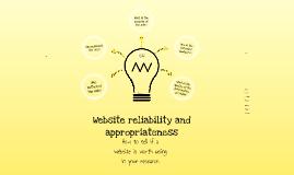 Copy of Website Reliability Prezi