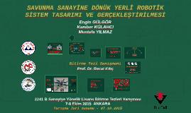 YARIŞMA - Sunum