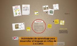 Actividades de aprendizaje para desarrollar el lenguaje en n